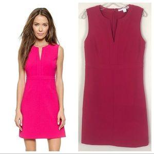 Diane VonFurstengberg Fleur Pink Midi Sheath Dress